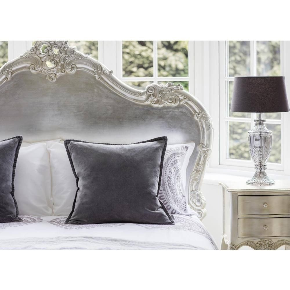 Black and Silver Bedroom Set Unique Sylvia Silver 2 Drawer Bedside Table