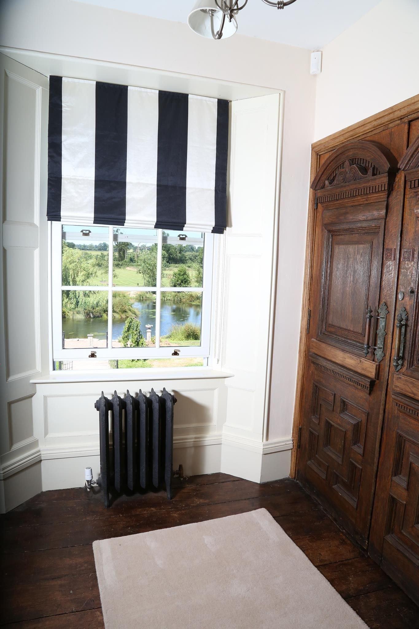 Black and White Bedroom Curtains Elegant Black and White Stripe Blind