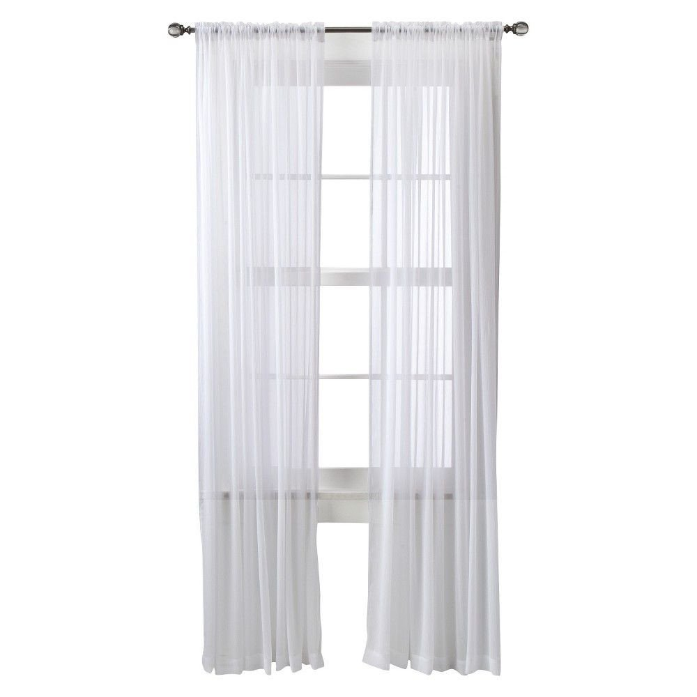 Black and White Bedroom Curtains New Chiffon Sheer Curtain Panel White Threshold