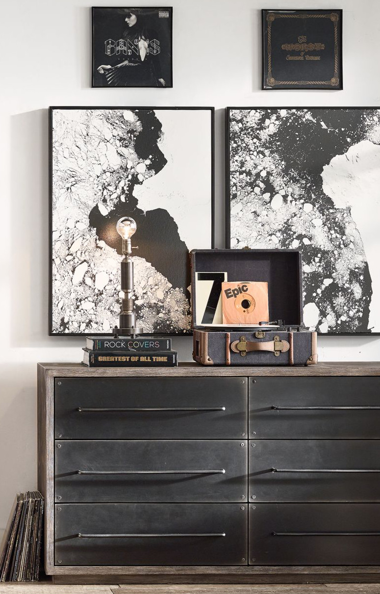 Black and White Teenage Bedroom Elegant Pair An Industrial Inspired Dresser with Black and White