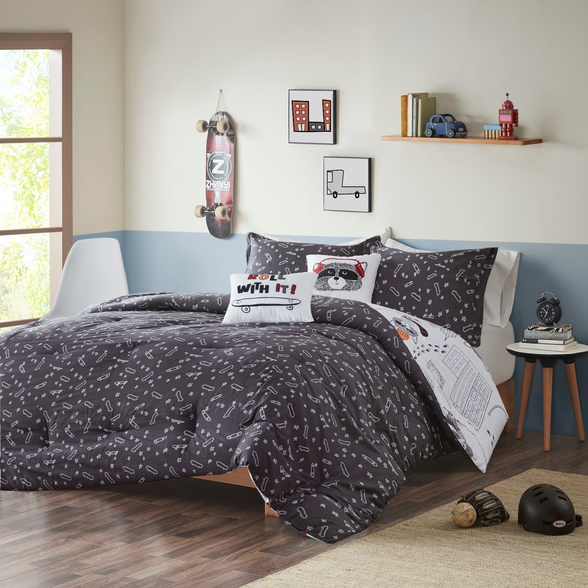 Black Bedroom Comforter Set Beautiful Urban Habitat Kids Cody Black Multi Cotton Reversible forter Set