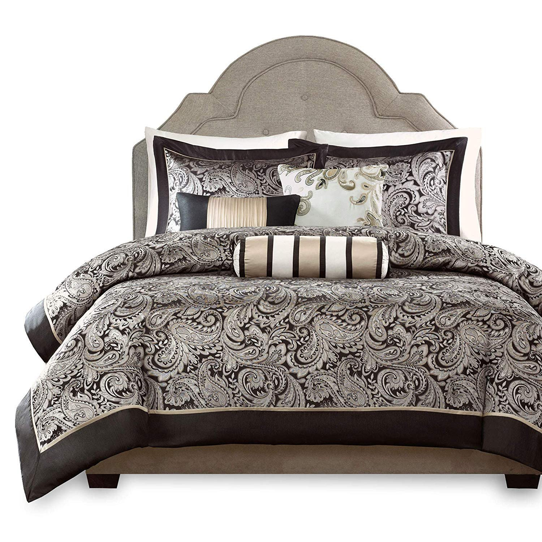 Black Bedroom Comforter Set Elegant Madison Park Aubrey Queen Size Bed forter Set Bed In A