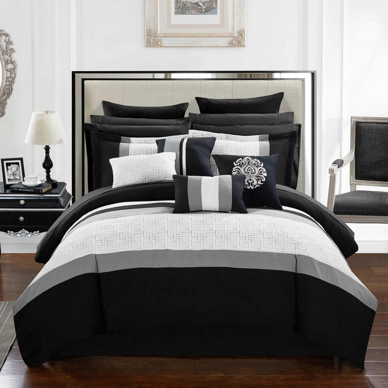 Black Bedroom Comforter Set Inspirational Keira 16 Piece Bed In A Bag Queen forter Set by Chic Home