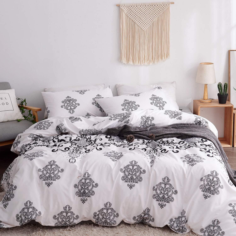 Black Bedroom Comforter Set Lovely Lamejor Duvet Cover Sets Queen Size Black Retro Pattern Bedding Set forter Cover 1 Duvet Cover 2 Pillowcases White