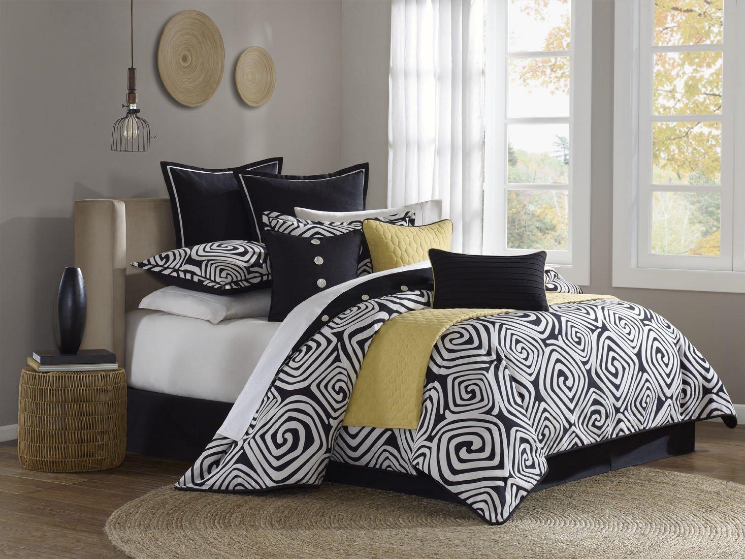 Black Bedroom Comforter Set New Hampton Hill Calypso Polyester Jacquard 9 Piece forter Set Queen Multi