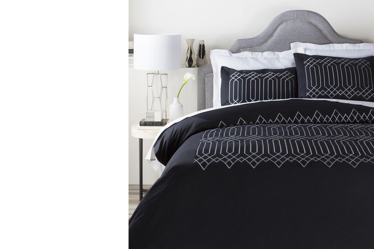 Black Bedroom Comforter Set Unique Surya Plaza Black Duvet Set King
