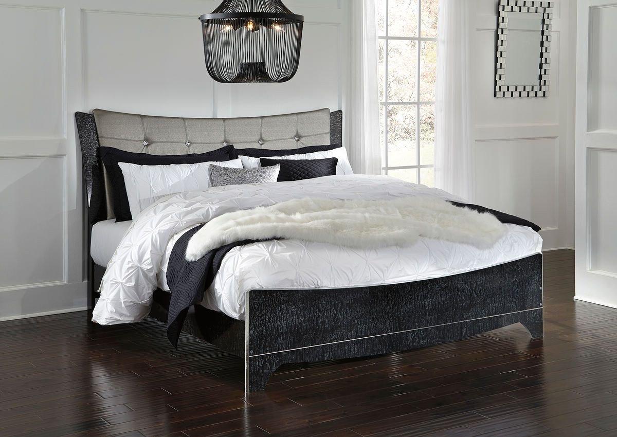 Black Bedroom Furniture Decor Unique Amrothi Black King Uph Panel Bed