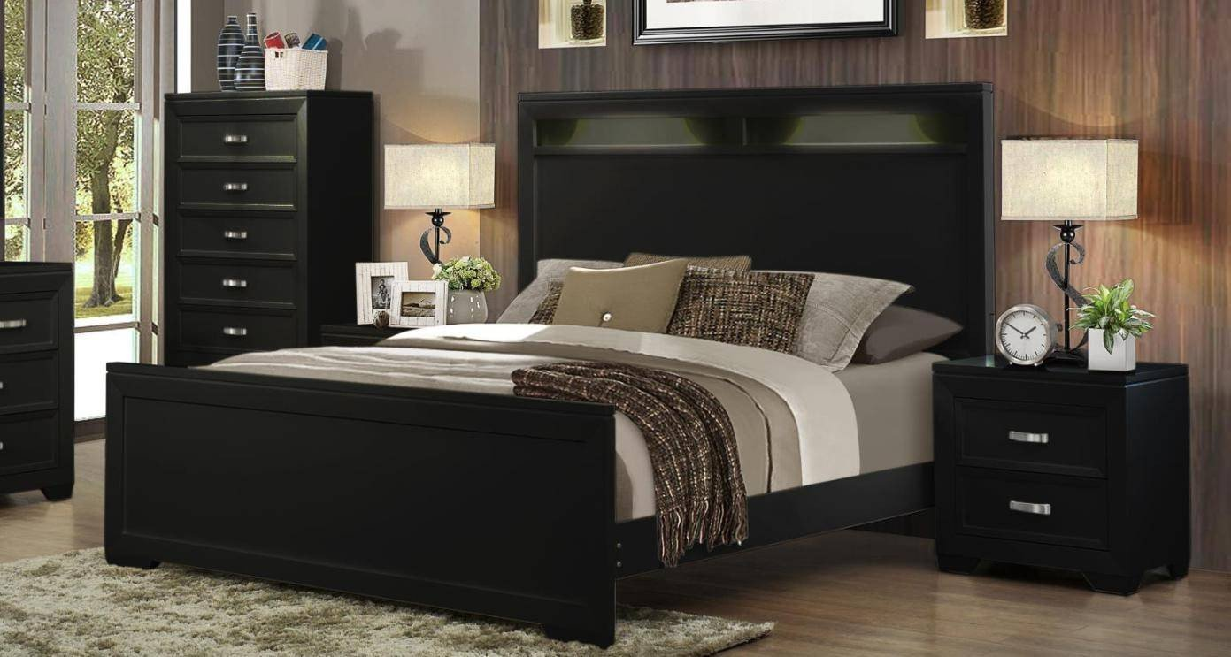 Black Bedroom Set Queen Beautiful soflex Ophelia Black Tall Headboard King Bedroom Set 4pcs W