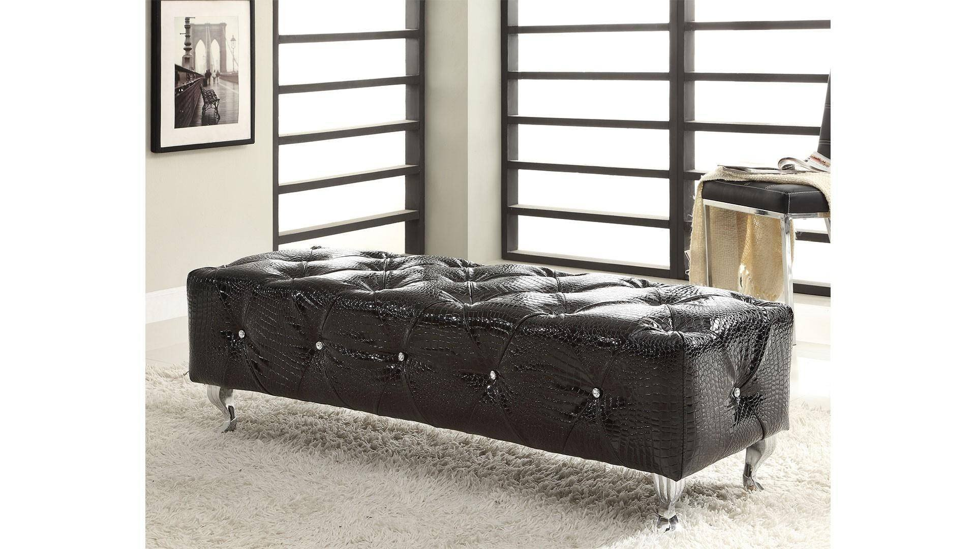Black Bedroom Set Queen New at Home Michelle King Platform Bedroom Set 2 Pcs In Black Leather