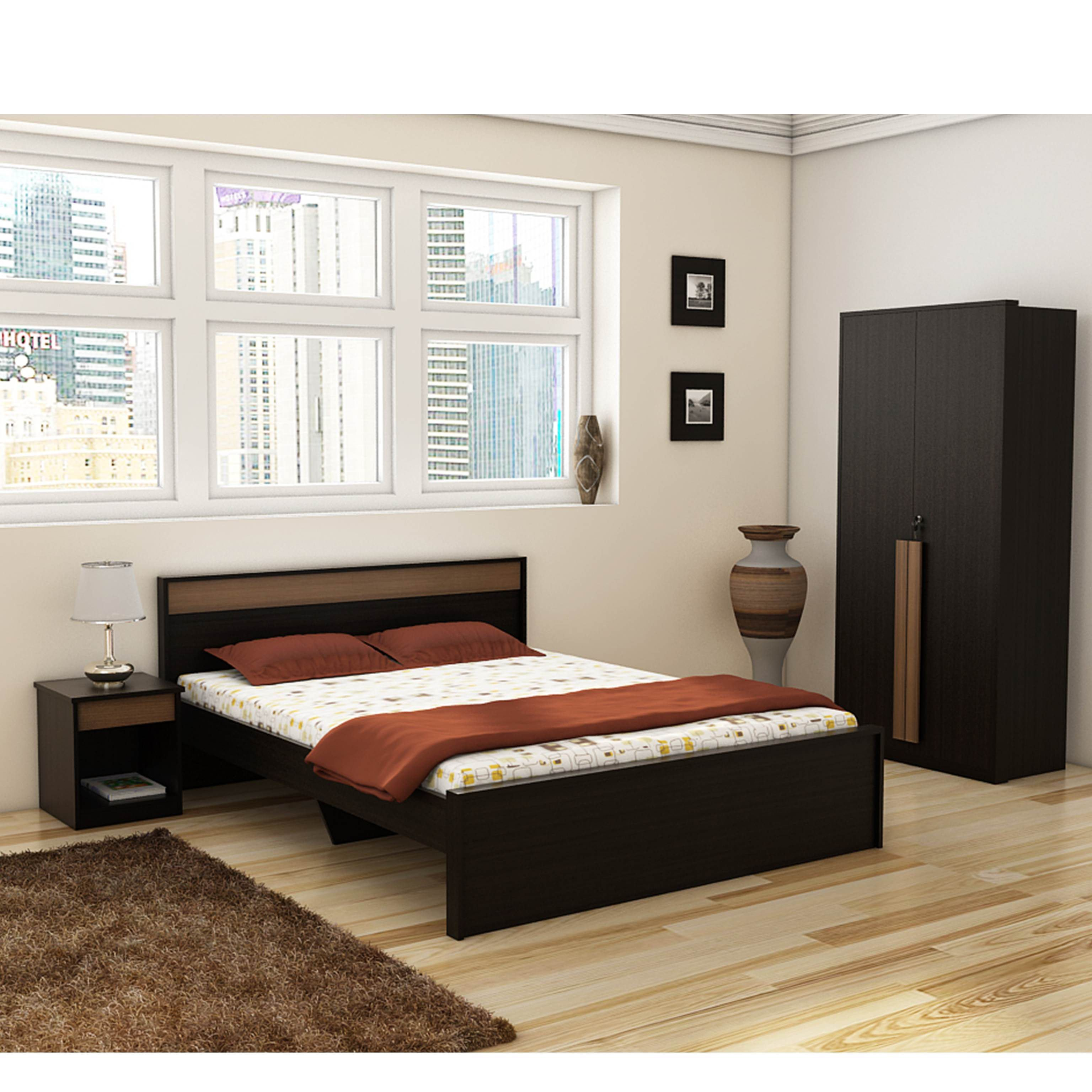 Black Bedroom Set Queen Unique Spacewood Ace Bedroom Set Queen Bed 2 Door Wardrobe