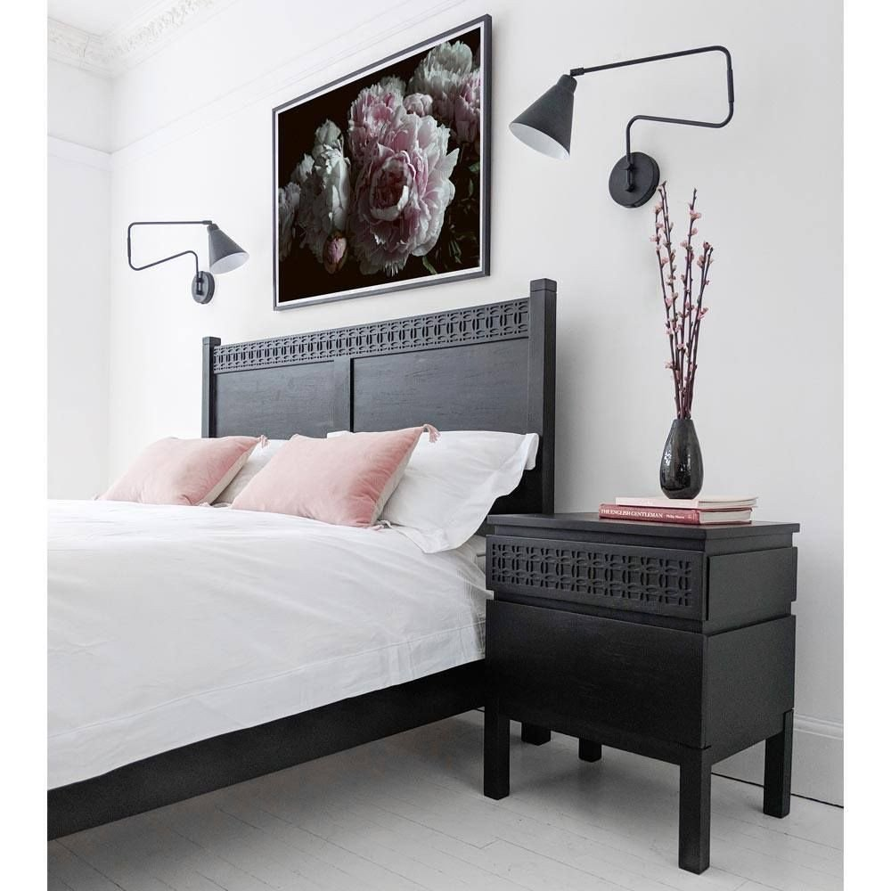 Black Bedroom Side Table Fresh the Hedonist 2 Drawer Bedside Table Aziz S Room