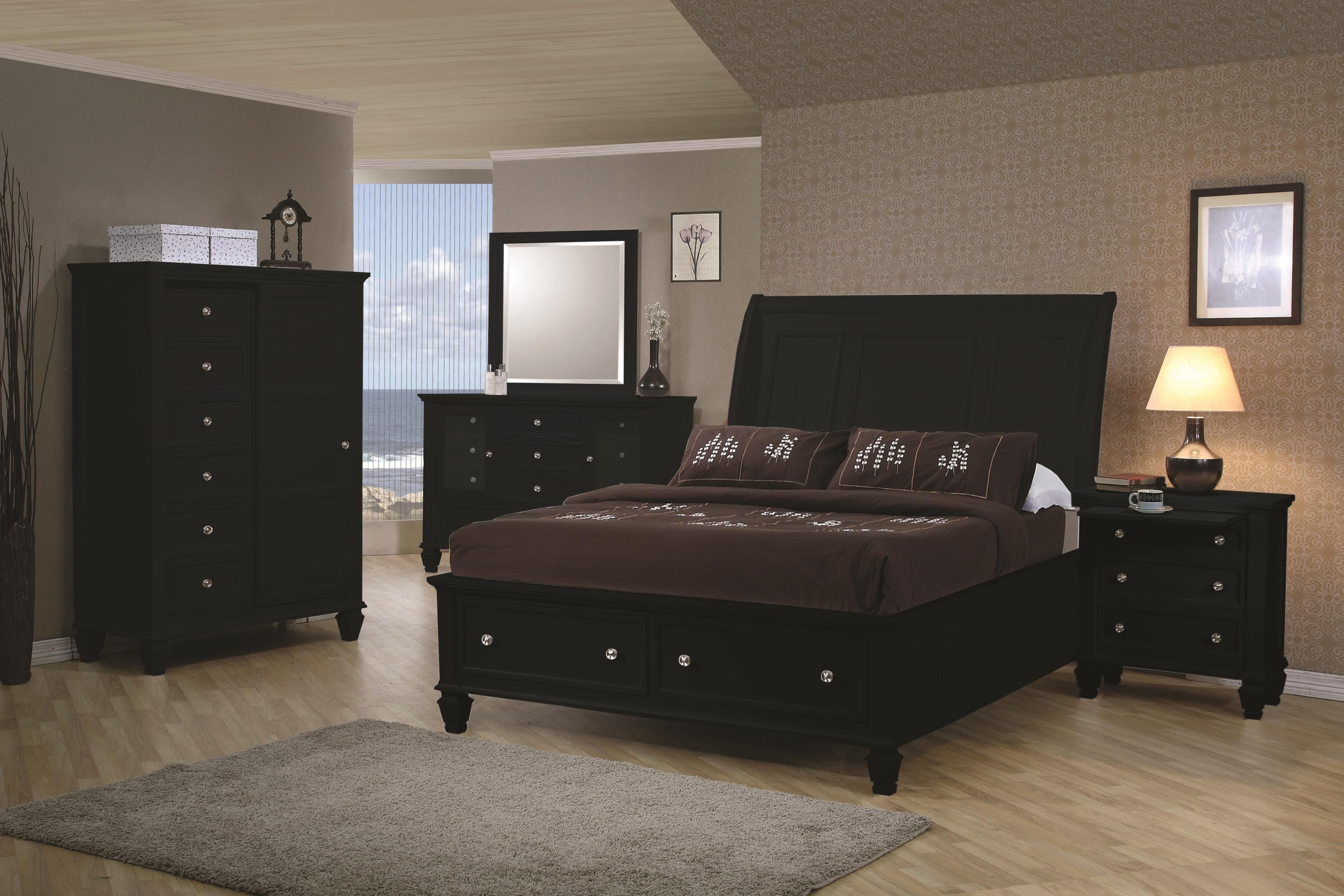 Black Full Size Bedroom Set Best Of Gorgous Transitional Black Bedroom Set with Storage