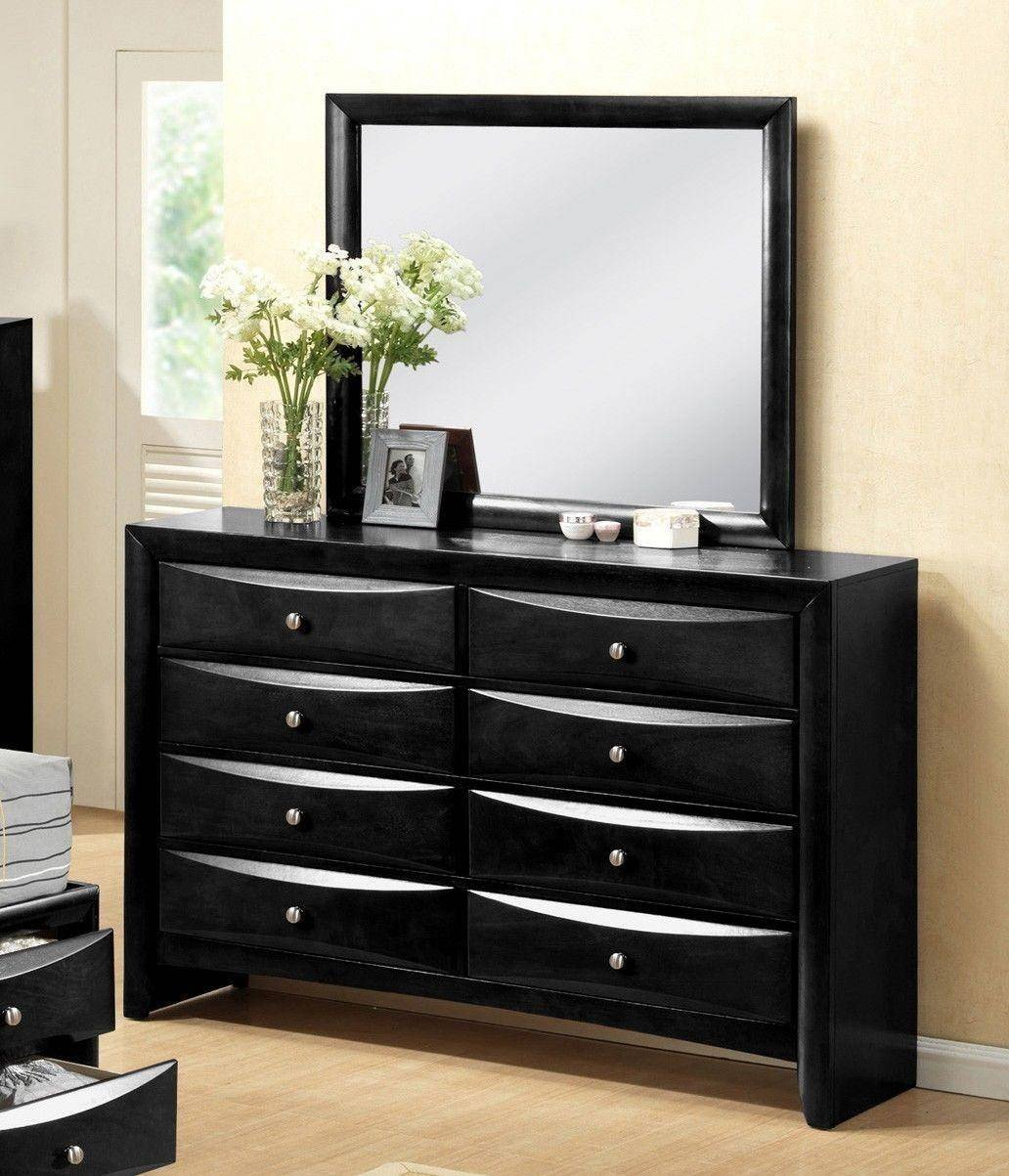Black Full Size Bedroom Set Elegant Crown Mark B4285 Emily Modern Black Finish Storage King Size