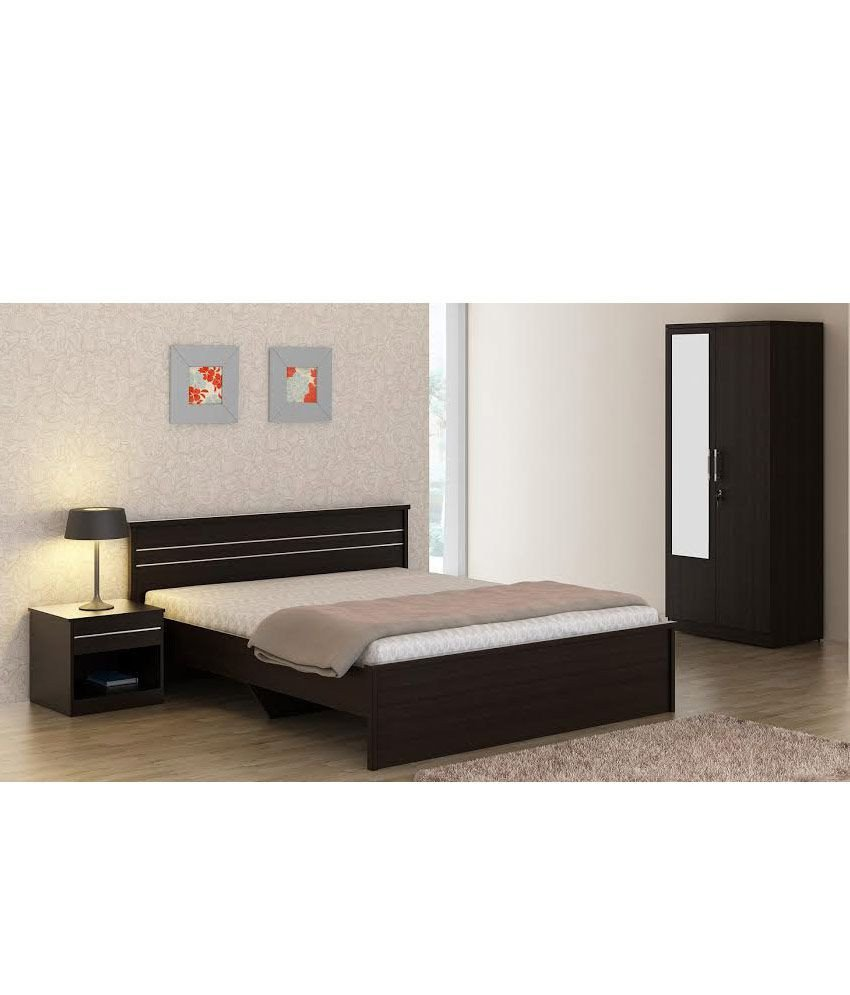 Black Mirror Bedroom Set Luxury Carnival Wenge Bedroom Set Queen Bed Wardrobe with Mirror