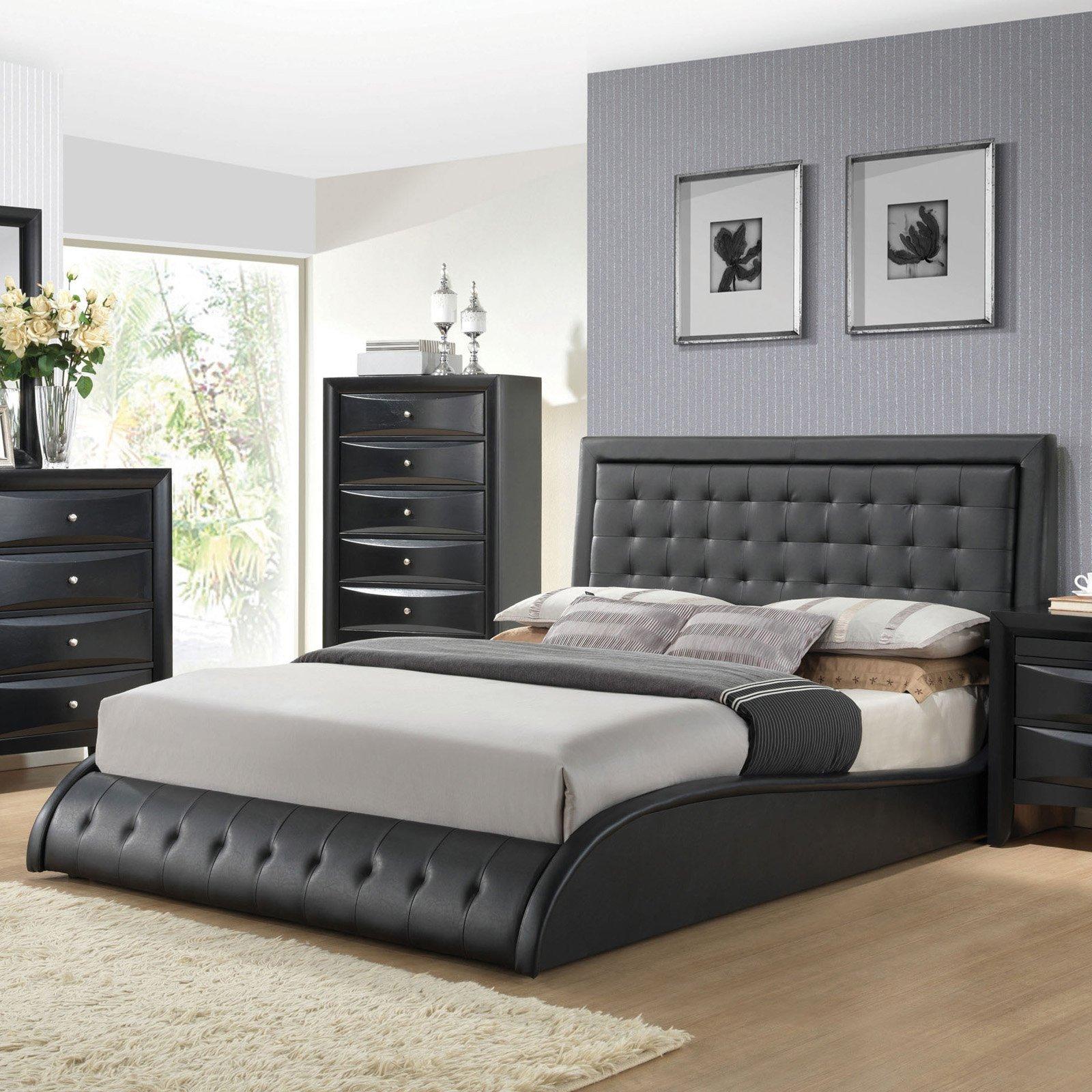 Black Mirror Bedroom Set Unique Acme Furniture Tirrel Platform Bed Size Queen
