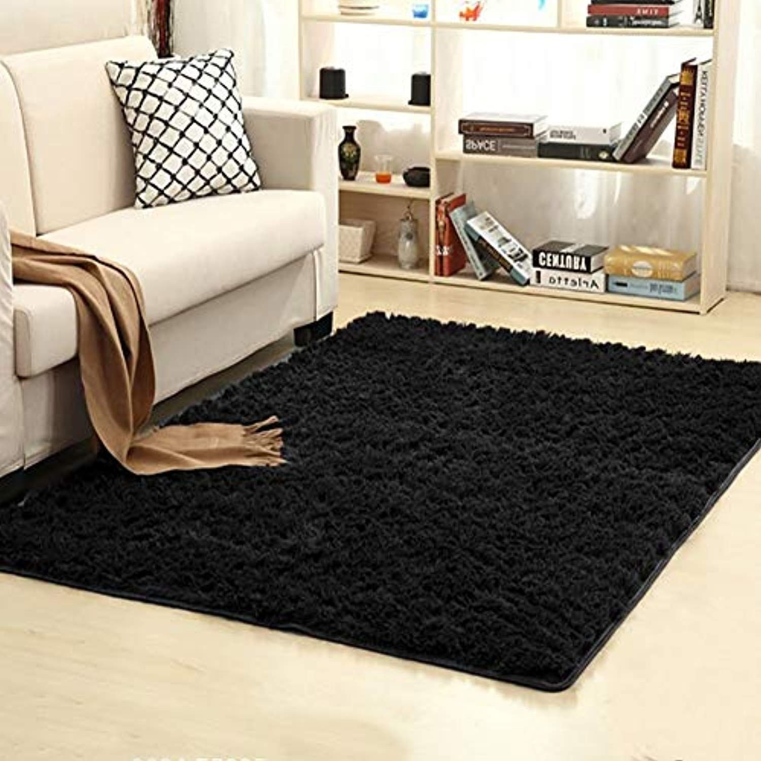 Black Rugs for Bedroom Awesome Junovo Ultra soft Contemporary Fluffy Indoor area Rugs Home