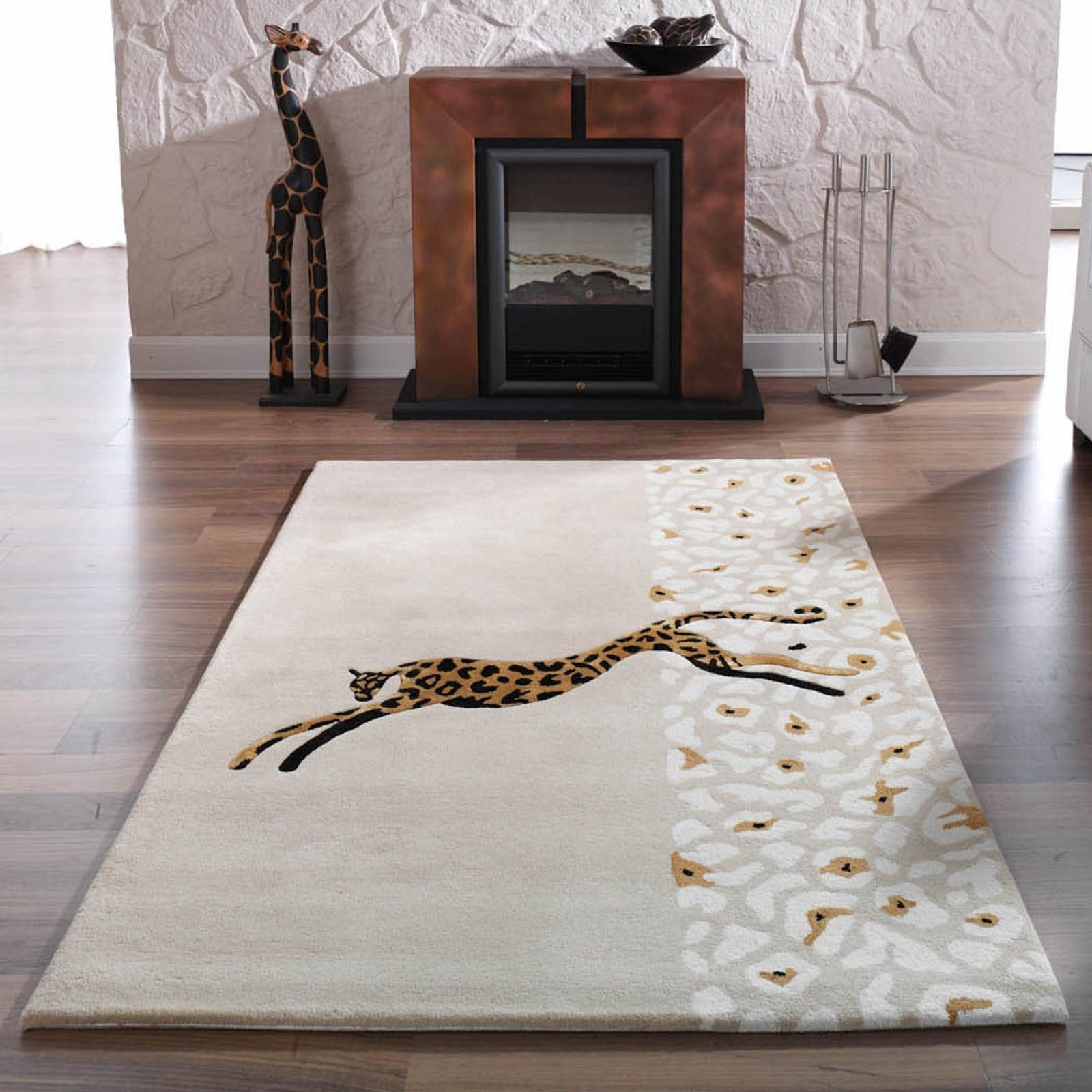 "Black Rugs for Bedroom Inspirational Kalahari Giraffe Rugs In Gold and Black120x180cm 5 7""x4 0"