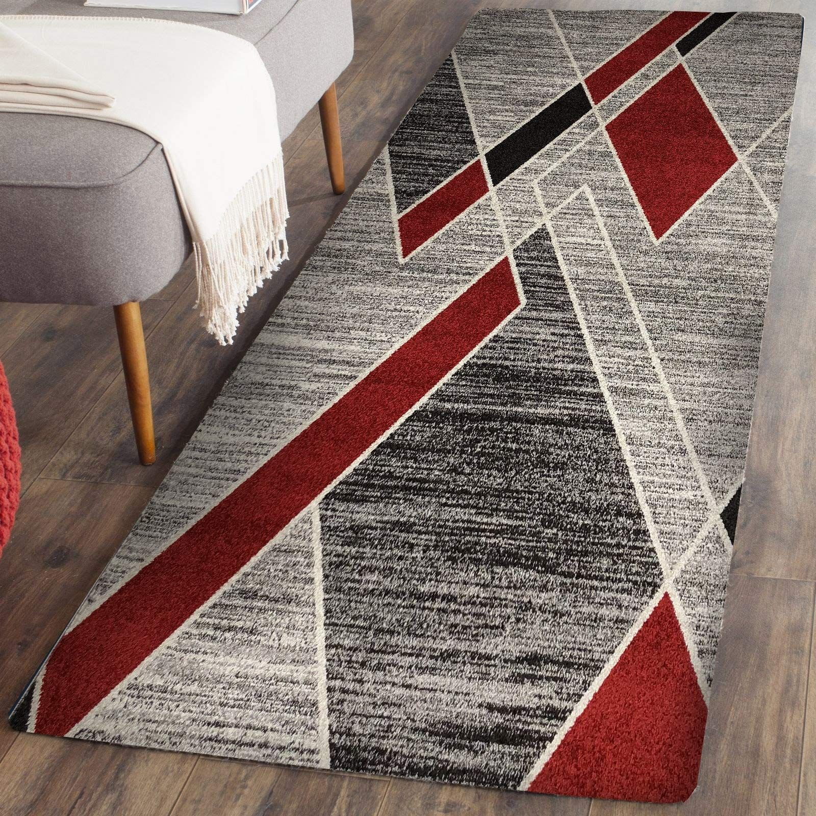 Black Rugs for Bedroom Luxury Prestige Decor area Rugs 2x5 Living Room Rug Carpet Grey Red
