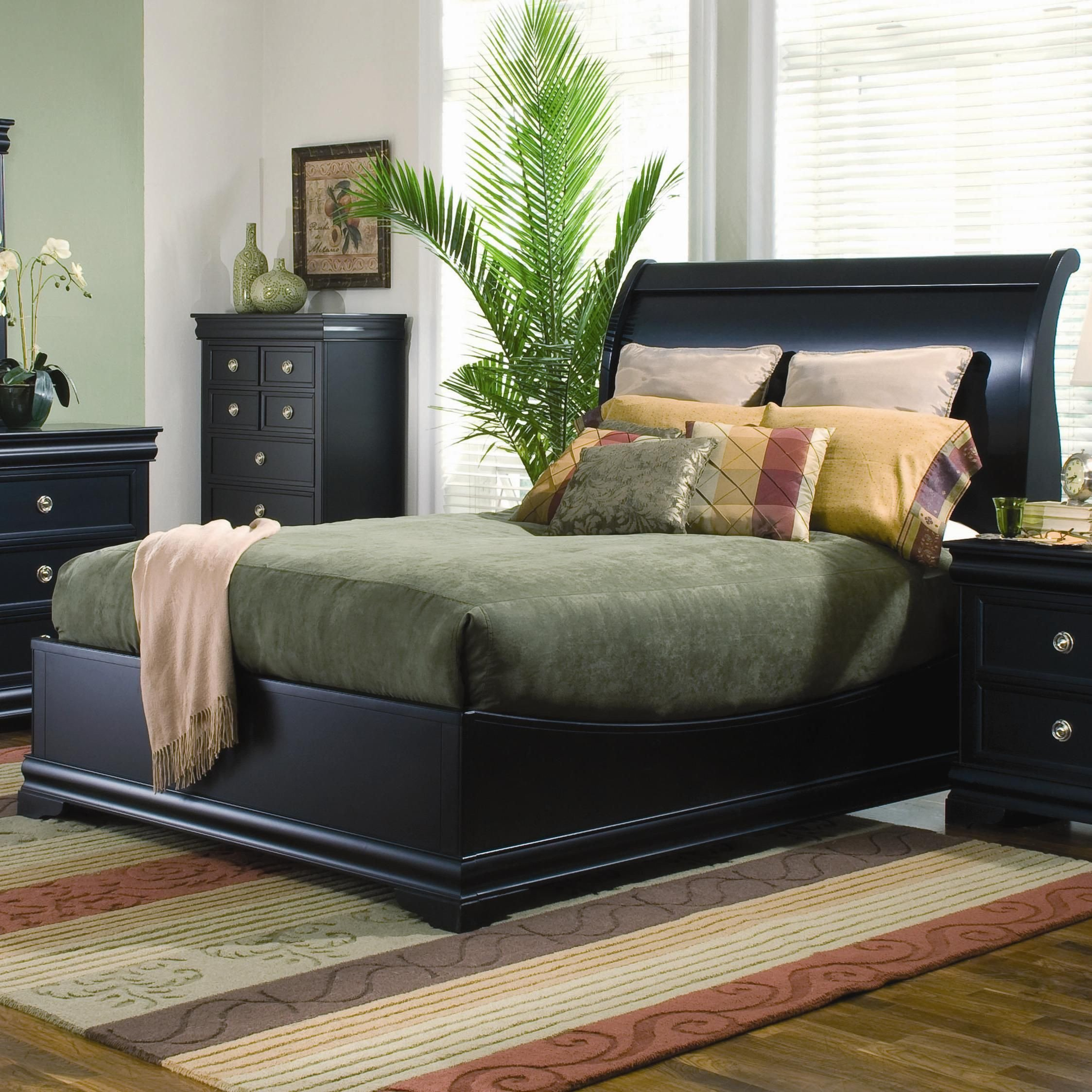 Black Twin Bedroom Set Inspirational Swept Back with Low Profile Footboard An Updated Sleigh Bed