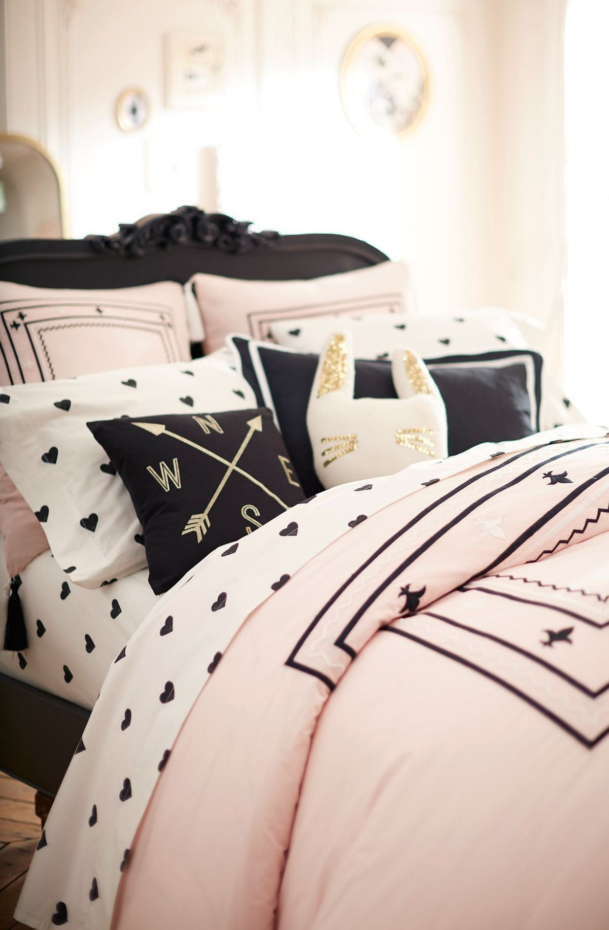 Black White and Gold Bedroom Beautiful Black White and Cute All Over Check Out the New Collection