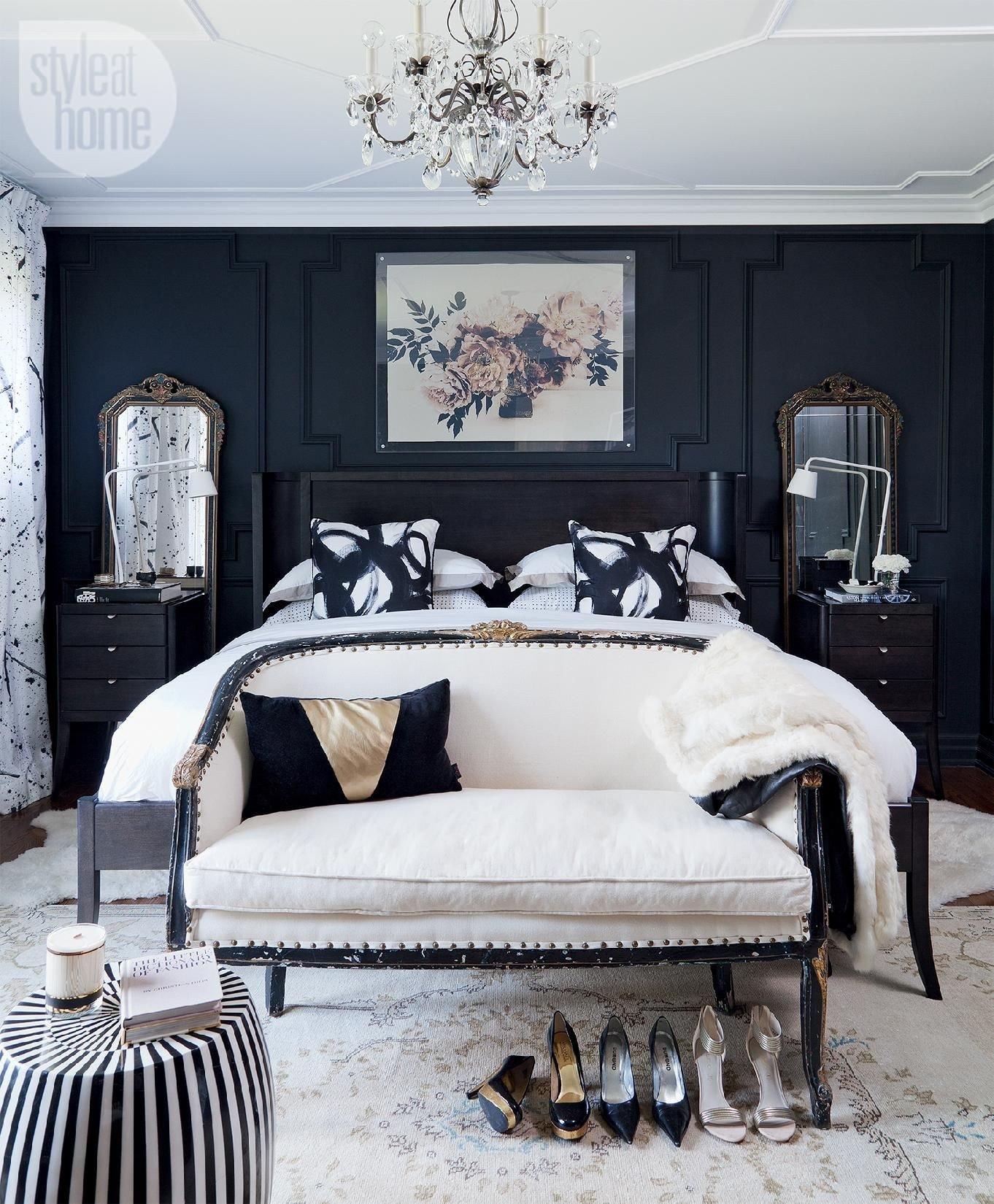 Black White and Gold Bedroom Lovely Bedroom