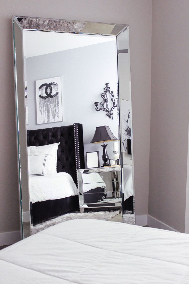 Black White and Gray Bedroom Inspirational Black & White Bedroom Decor Reveal