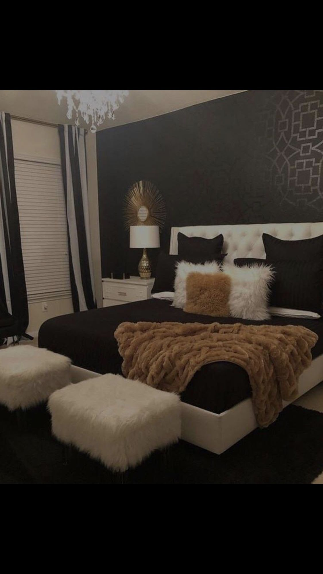 Black White Gold Bedroom Luxury Pin by Amour Kiiyah 🤑 On Home Decorating In 2019
