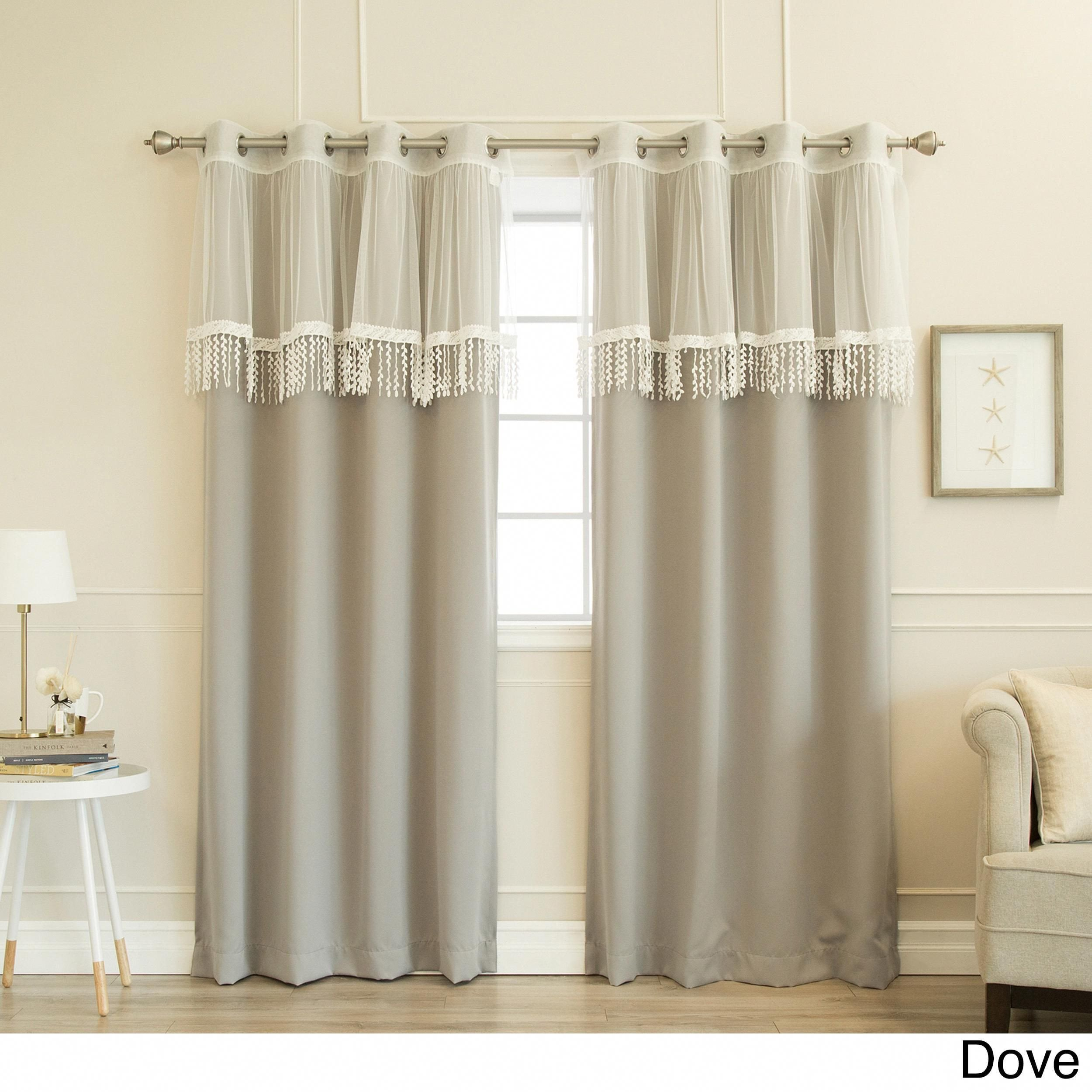 Blackout Drapes for Bedroom Beautiful Aurora Home Leaf Fringe Valance and Blackout Mix&match