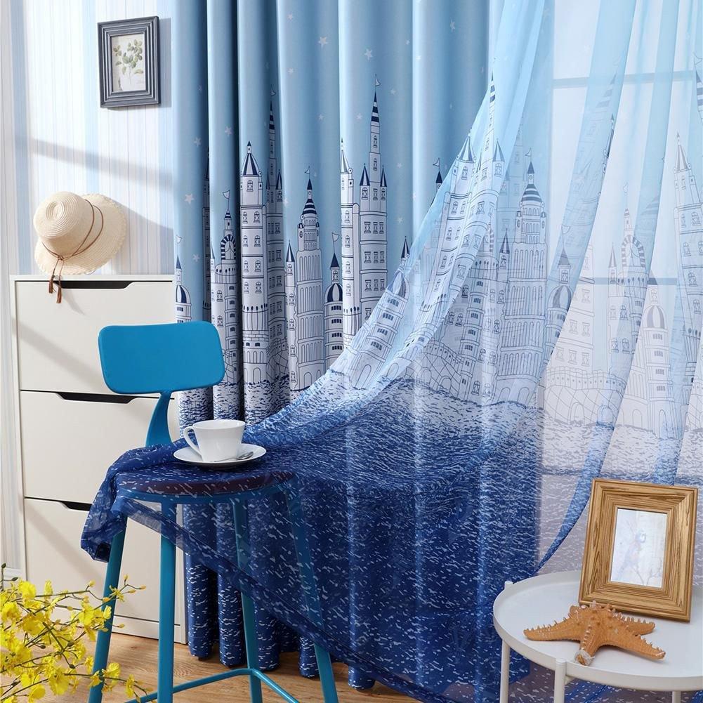 Blackout Drapes for Bedroom Beautiful Castle Print Blackout Curtains Bedroom Windows Decor Drapes