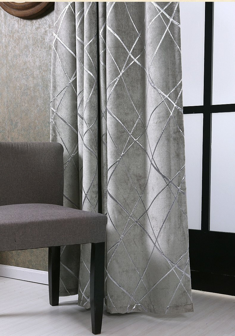 Blackout Drapes for Bedroom Best Of 2019 Silver Jacquard Chenille Blackout Curtains Drape for Bedroom Home Deco Curtain Blind Window Treatment Curtain for Living Room Y From