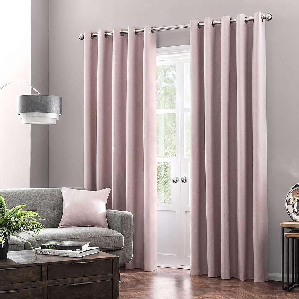 Blackout Drapes for Bedroom Luxury Luna Brushed Blush Blackout Eyelet Curtains
