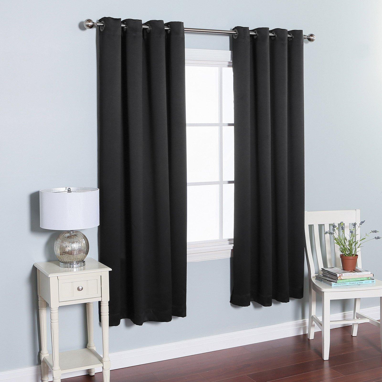 Blackout Drapes for Bedroom Unique Best Home Fashion thermal Grommet Blackout Curtain Black
