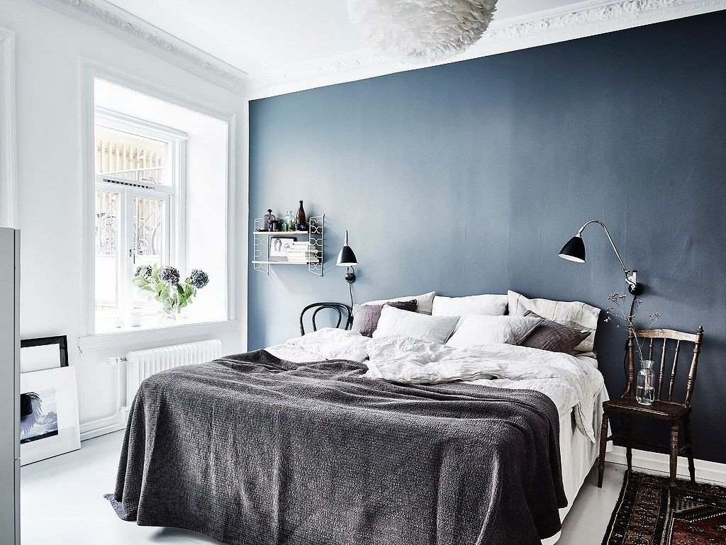 Blue and Gray Bedroom Best Of Blue Bedroom Wall