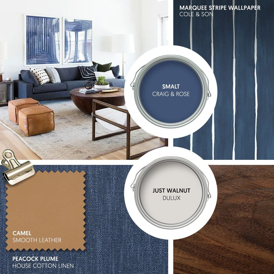 Blue and Tan Bedroom Inspirational Monday Moodboard Mid Century Modern Meets the
