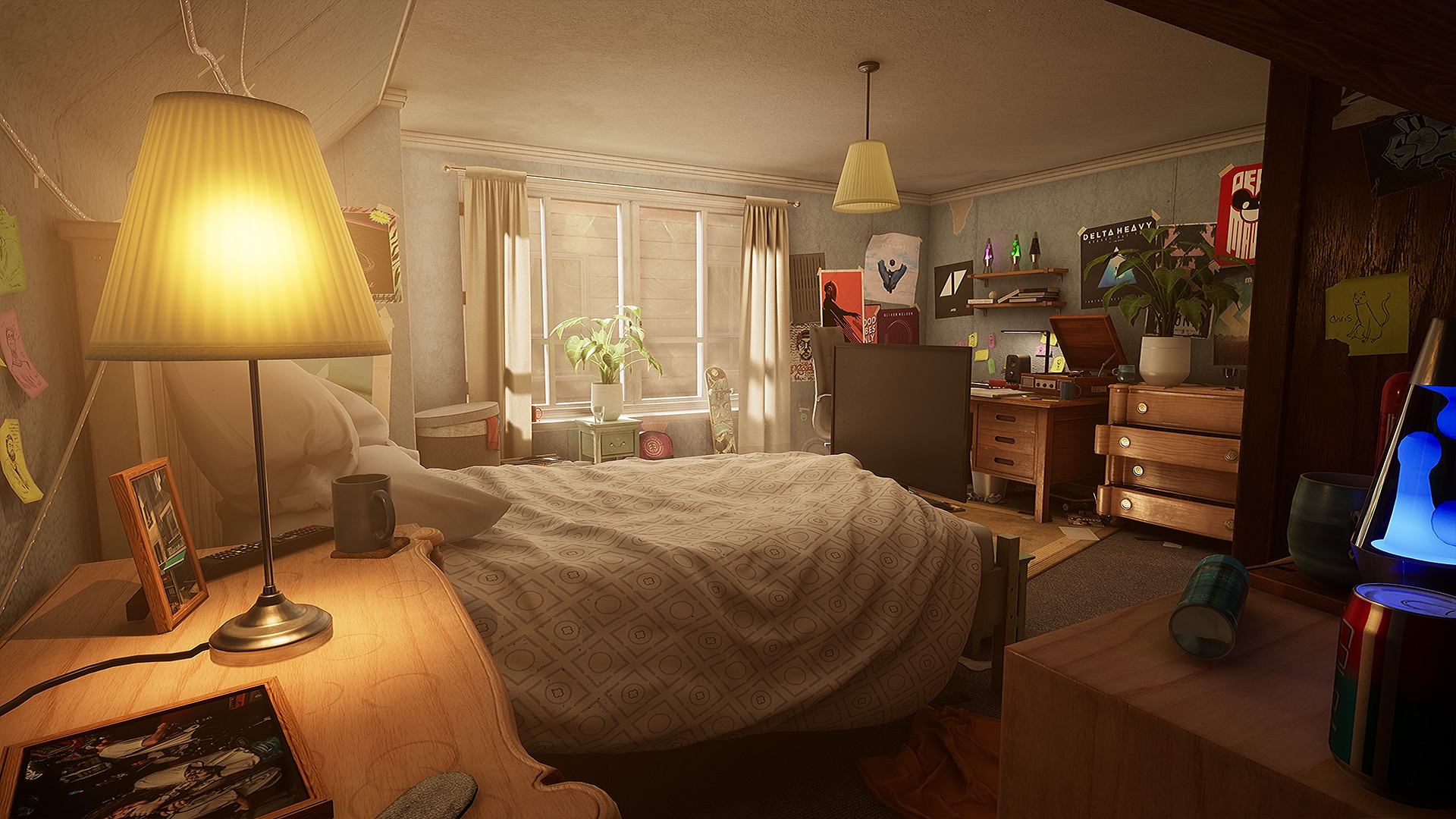 Blue and Tan Bedroom New Wip] [ue4] Teenagers Bedroom — Polycount