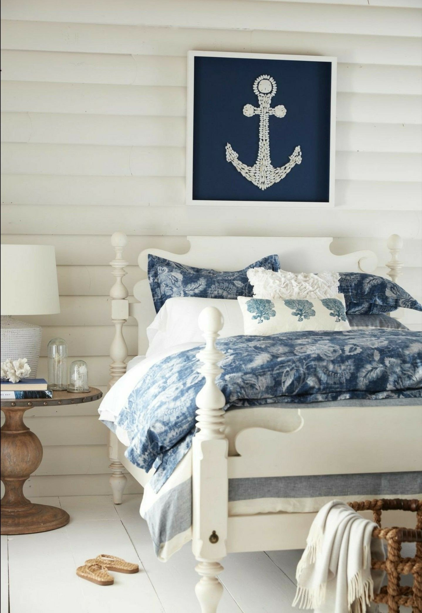 Blue and White Bedroom Ideas Fresh Coastal White Planked Bedroom Love the White Wood Headboard