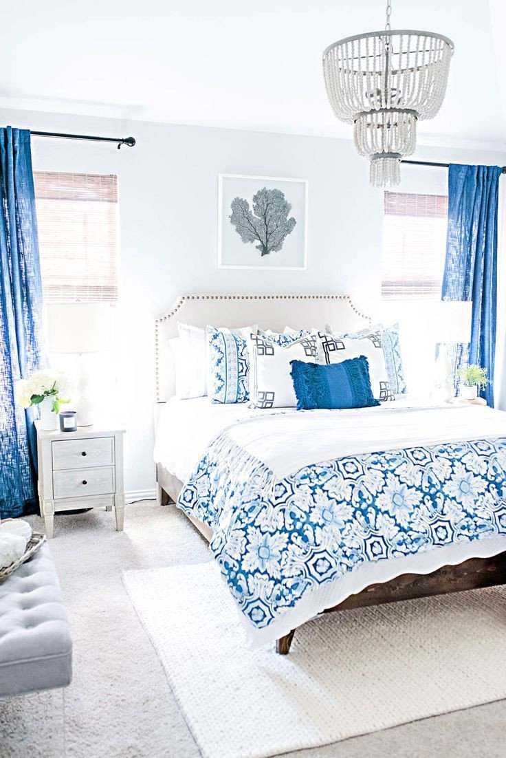 Blue and White Bedroom Ideas Luxury Blue and White Coastal Guest Bedroom Reveal