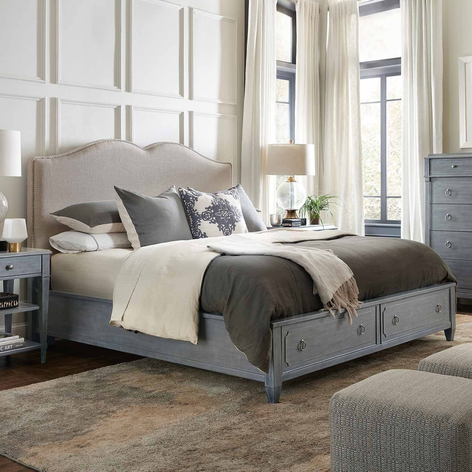 Blue Bedroom Furniture Set Fresh the Hamilton Wood & Upholstered Panel Storage Bed In Gray
