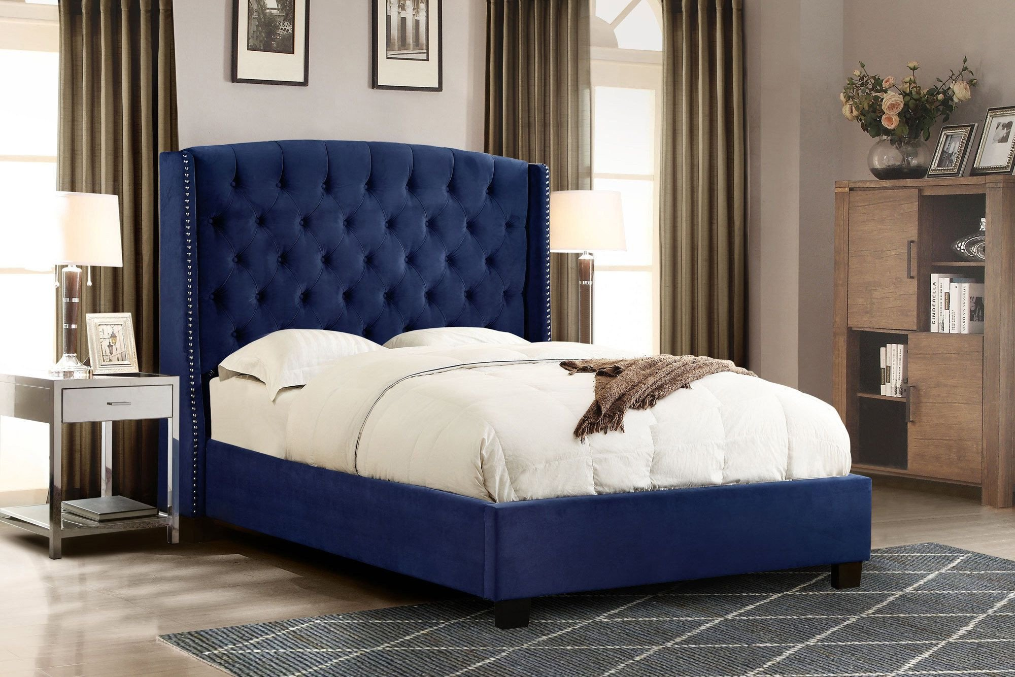 Blue Bedroom Furniture Set Unique 189 Best Tufted Headboards & Beds Images