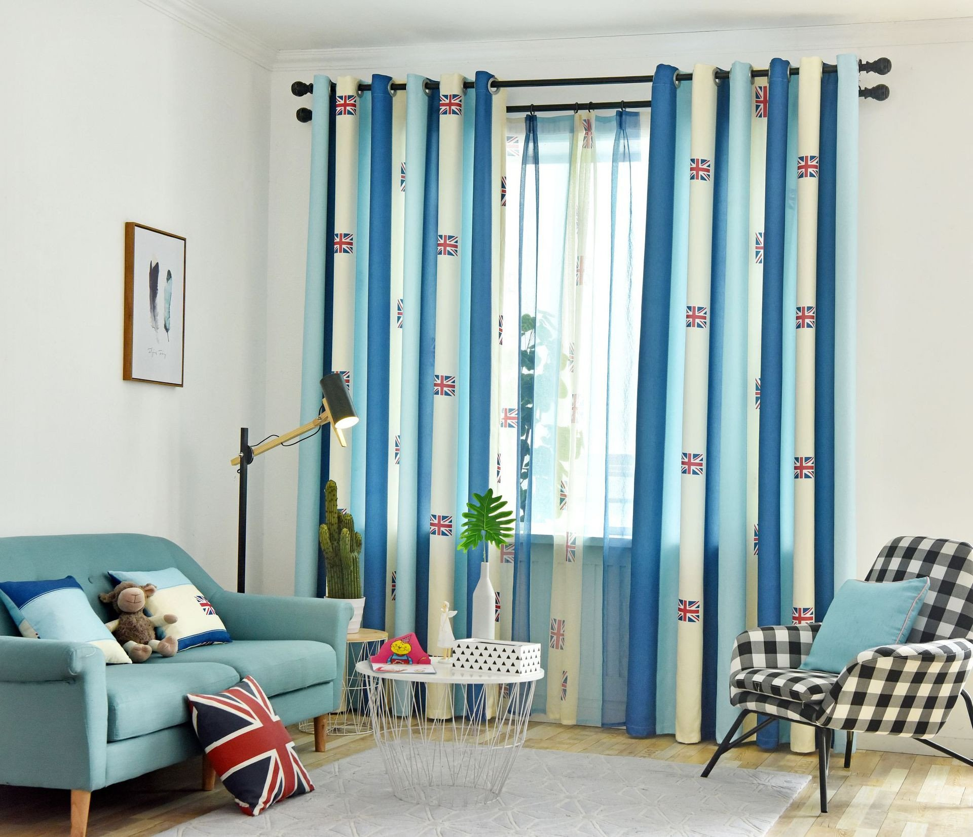 Blue Curtains for Bedroom Awesome 2019 American Style Curtains Blue White Union Flag Window Curtain for Living Room Bedroom Stripe Tulle Sheer for the Kitchen From Curteney $38 25