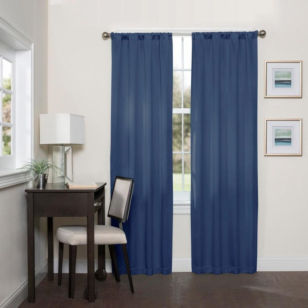 Blue Curtains for Bedroom Awesome Darrell thermaweave Blackout Curtain Indigo Blue solid
