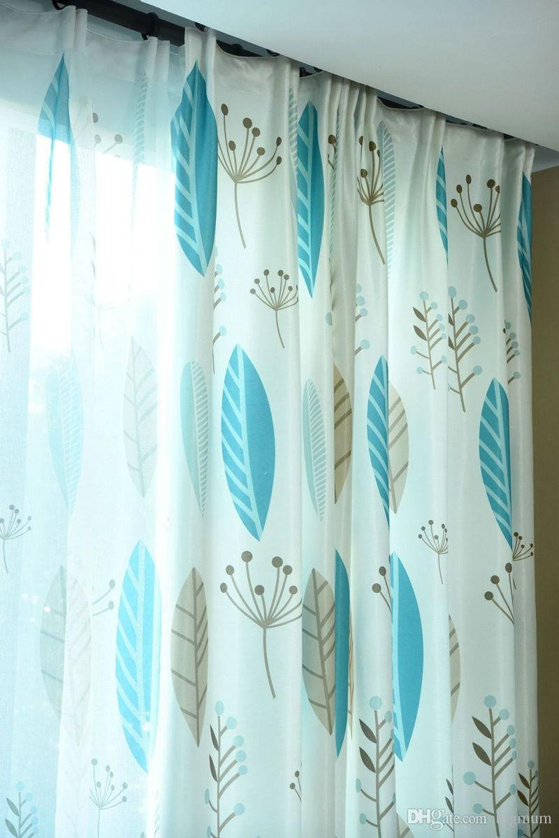 Blue Curtains for Bedroom Unique 2019 Customized Pastoral Plant World Blackout Curtain for Living Room Bedroom Kitchen Blue Beige Colorful Leaves for Window Treatment From Bigmum