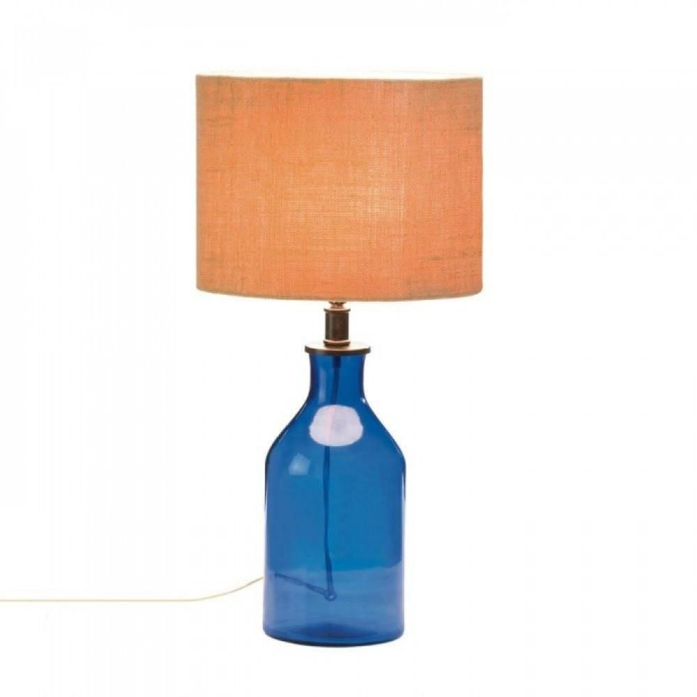 Blue Table Lamps Bedroom Awesome Blue Bottle Table Lamp