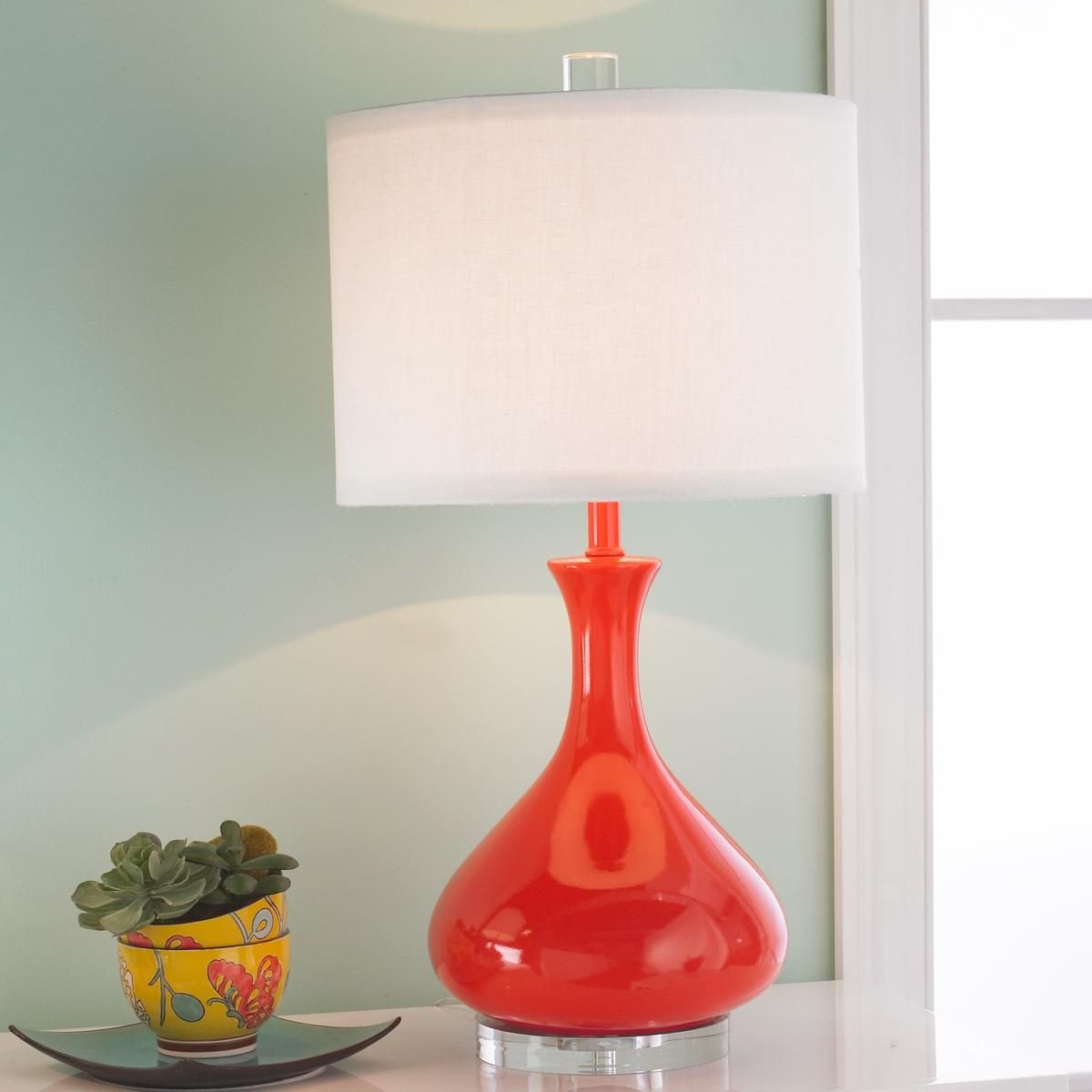 Blue Table Lamps Bedroom Fresh Ceramic Droplet Gourd Table Lamp