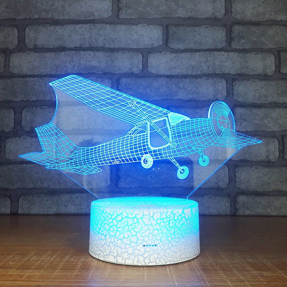 Blue Table Lamps Bedroom Lovely Best Discount 785da Aircraft Custom Gifts 3d Lights