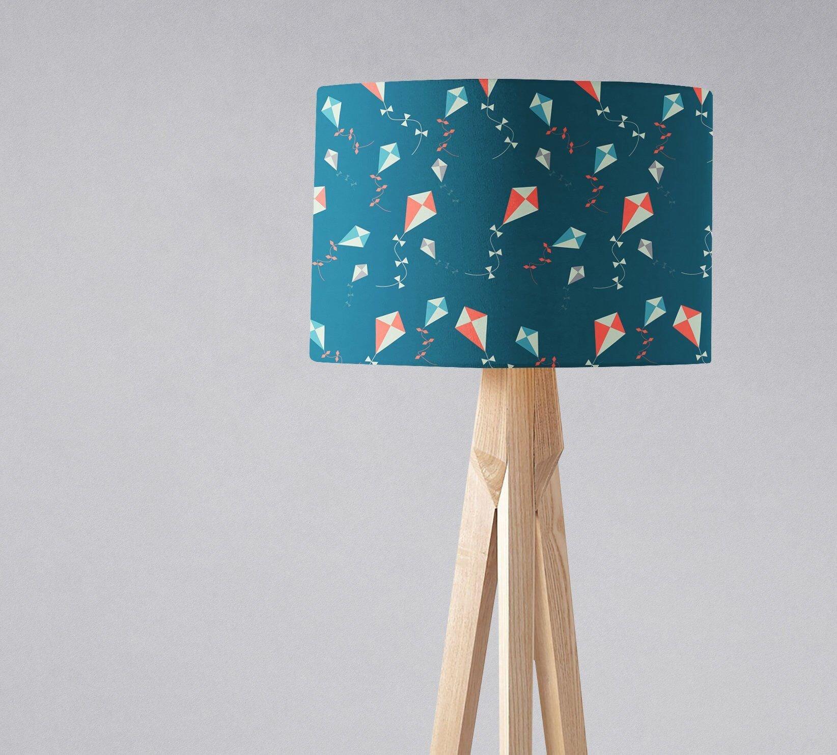 Blue Table Lamps Bedroom Lovely Kite Lampshade Kite Decor Drum Light Shade Harp Fitting