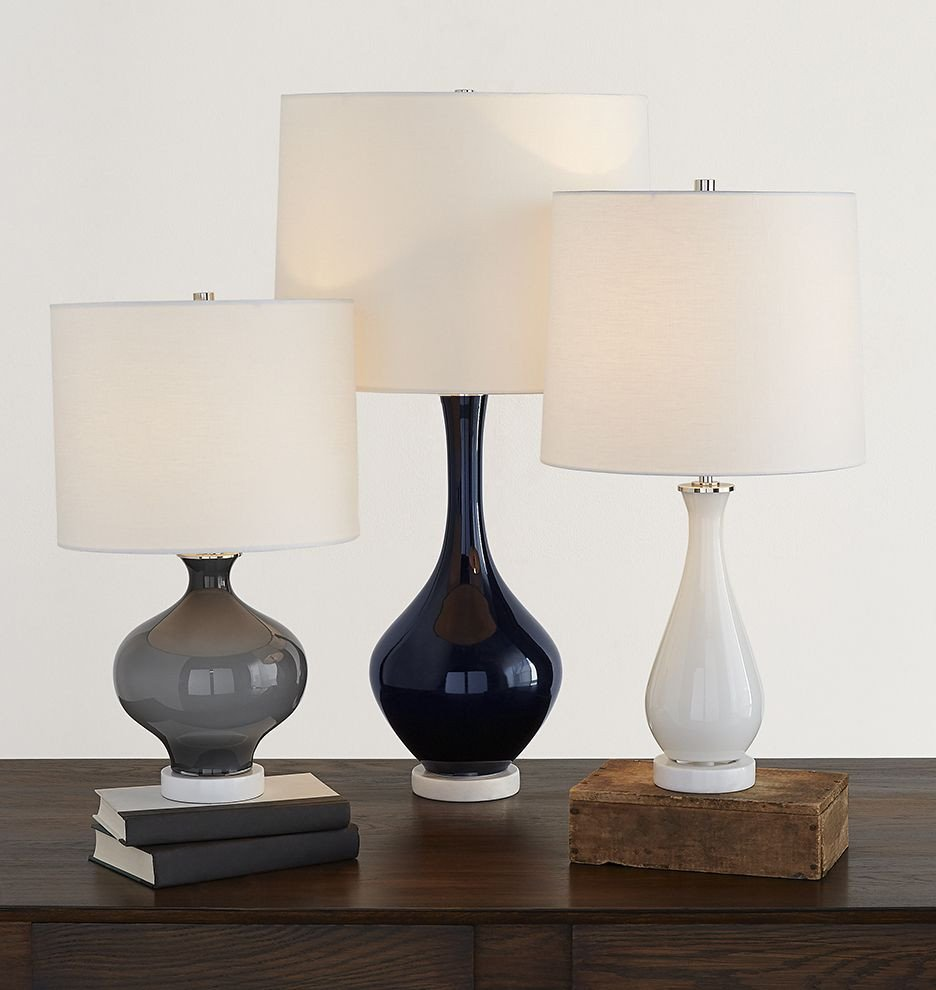 Blue Table Lamps Bedroom Unique Colored Glass Table Lamp Midnight Blue