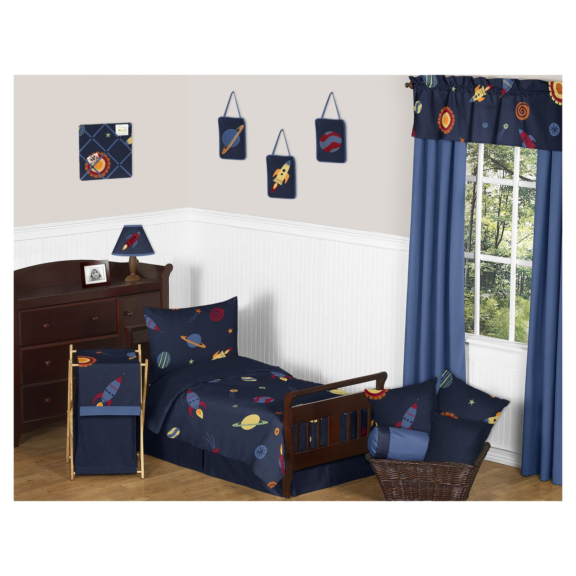 Boy Full Size Bedroom Set Awesome Navy Space Galaxy Bedding Set toddler Sweet Jojo Designs