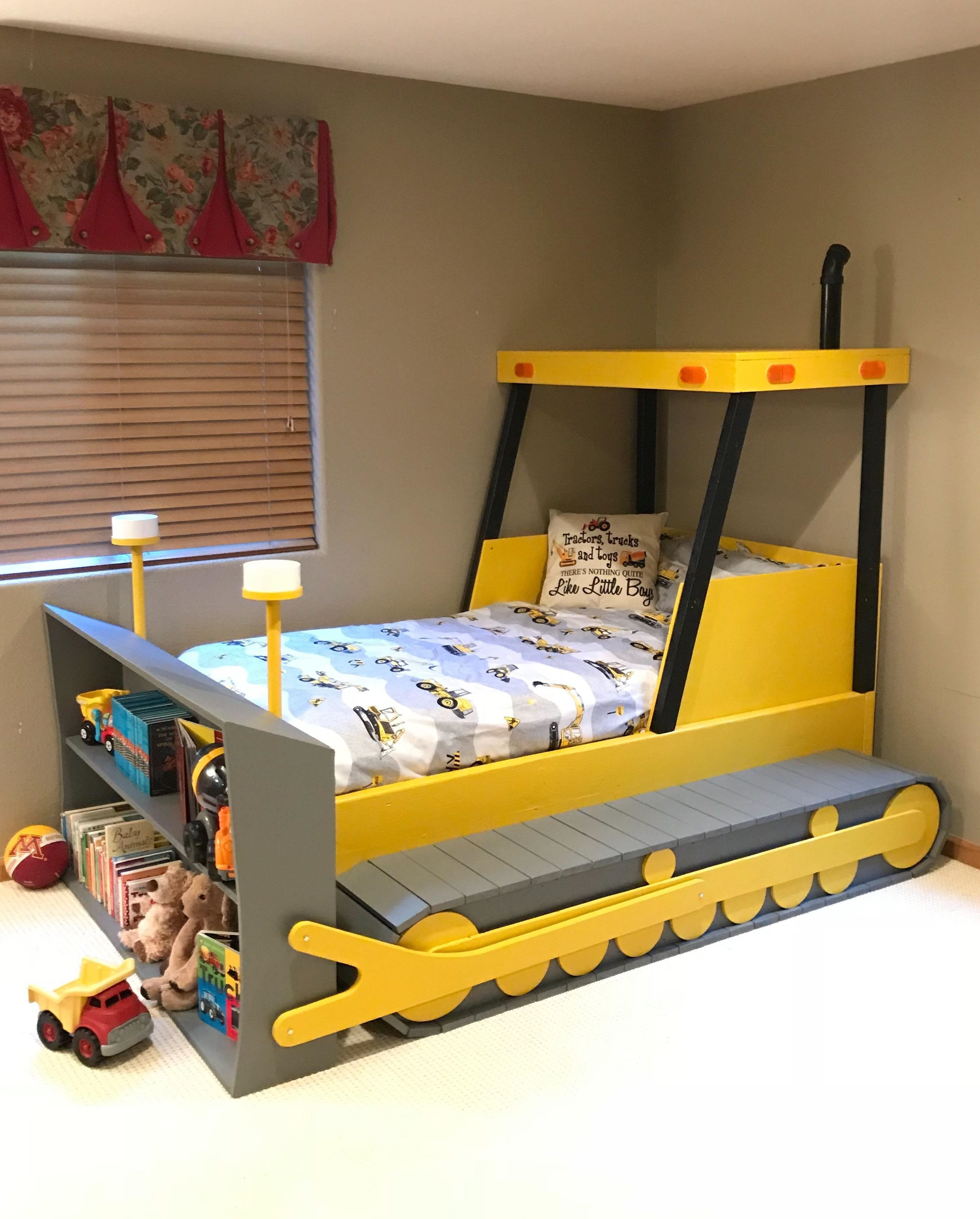 Boy Full Size Bedroom Set Elegant Twin Size Bulldozer Bed Plans Pdf format Create A