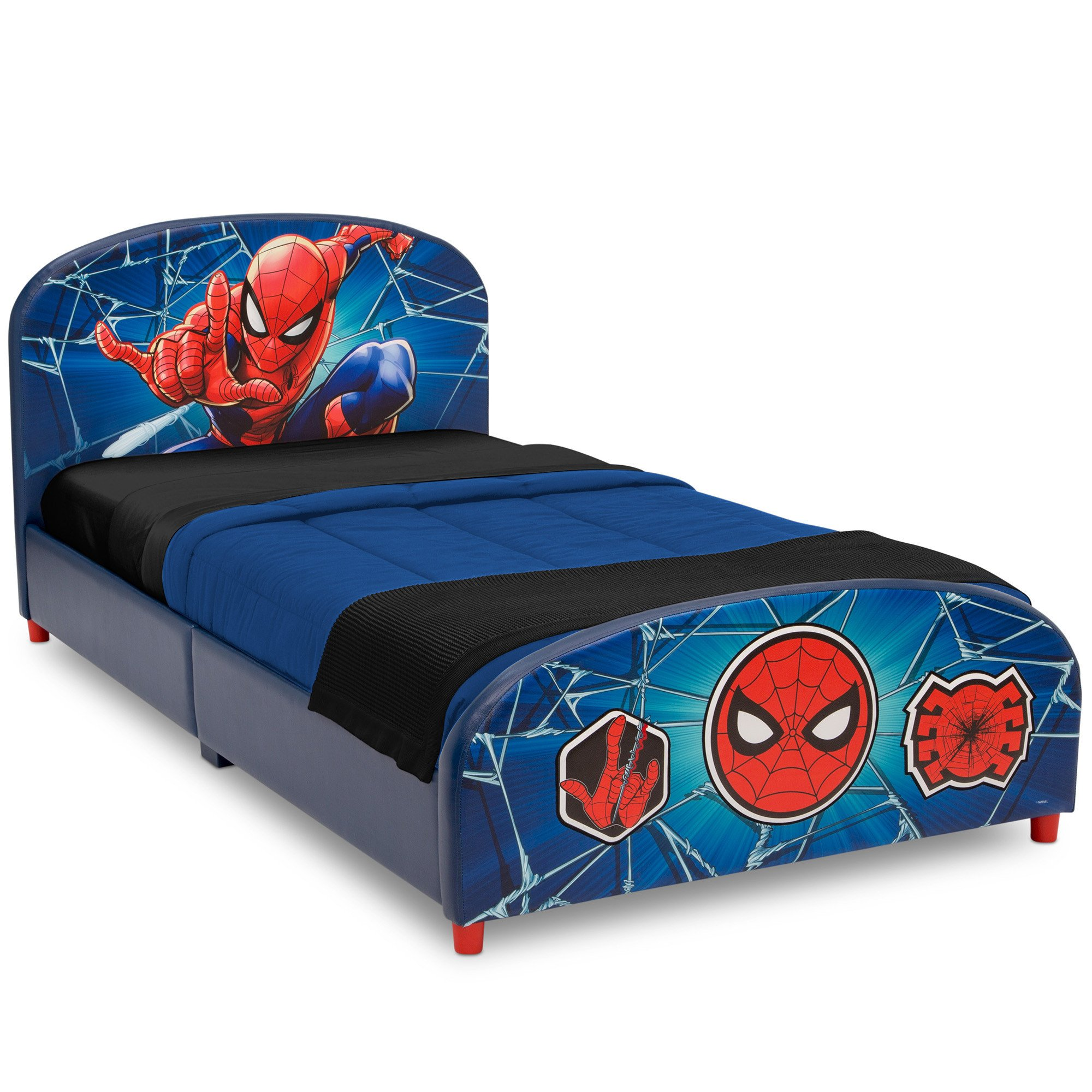 Boy Twin Bedroom Set Elegant Delta Children Marvel Spider Man Upholstered Bed Twin Walmart